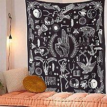 RGFIJP tapizRey Calavera meditando en Flores Luna