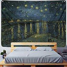 RGFIJP tapizStar Moon Night Van Gogh Pintura