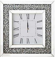 RICHTOP Reloj De Pared Grande Cuadrado Espejo
