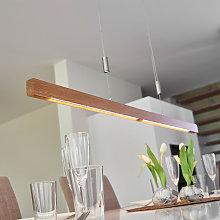 Riel de iluminación LED Nora roble, 118 cm