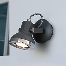 Ring- foco de pared LED en gris oscuro
