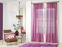 Rioma Brisa - Cortina visillo, Violeta y morado,