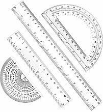 RMENOOR Juego de geometría de plástico