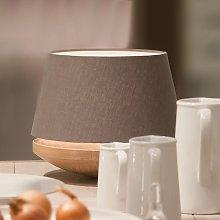 Roble y lino - lámpara de mesa Kjell, hierro