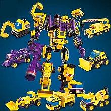 Robot De Transformación 6 En 1, Bloque De