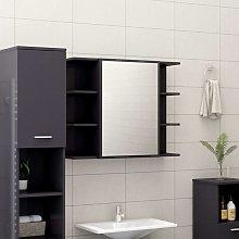 Rogal armario espejo de baño aglomerado gris
