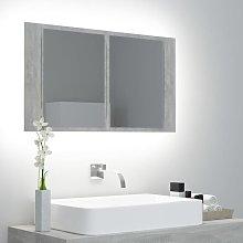 Rogal armario espejo de baño con luz led cemento