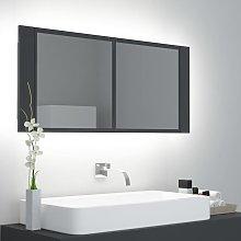 Rogal armario espejo de baño con luz led gris