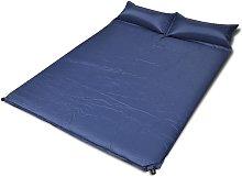 Rogal colchón doble de aire autoinflable azul