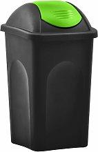 Rogal cubo de basura con tapa oscilante 60 l negro
