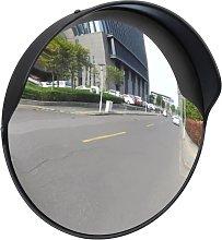 Rogal espejo de tráfico convexo plástico negro