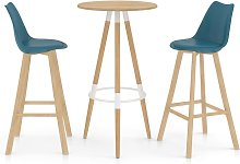 Rogal mesa alta y taburetes de bar 3 piezas