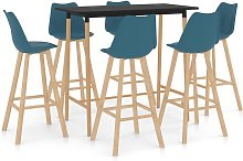 Rogal mesa alta y taburetes de bar 7 piezas