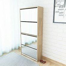 Rogal mueble zapatero 4 cajones con espejo roble