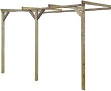 Rogal pérgola cobertizo de madera 2x3x2,2 m Rogal