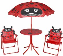 Rogal set mesa y sillas de jardín infantil 3 pzas