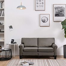 Rogal sofá de 2 plazas de tela color gris topo