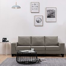 Rogal sofá de 3 plazas de tela color gris topo