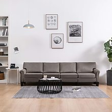 Rogal sofá de 4 plazas de tela color gris topo