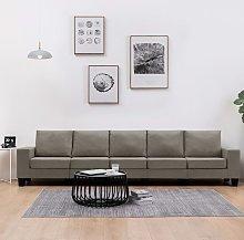 Rogal sofá de 5 plazas de tela color gris topo