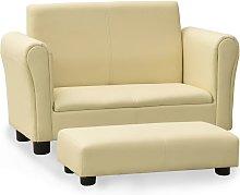 Rogal sofá infantil con taburete de cuero