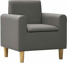 Rogal sofá infantil de cuero sintético gris Rogal