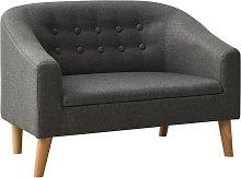 Rogal sofá infantil tela gris Rogal