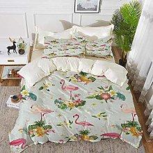 ropa de cama - Juego de funda nórdica, Flamingo,