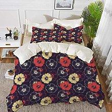 ropa de cama - Juego de funda nórdica, floral,