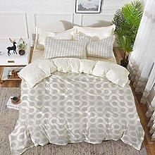 ropa de cama - Juego de funda nórdica, gris y