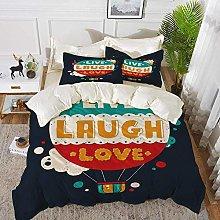 ropa de cama - Juego de funda nórdica, Live Laugh