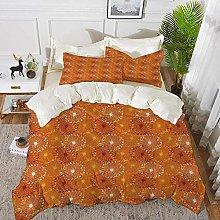 ropa de cama - Juego de funda nórdica, Naranja,