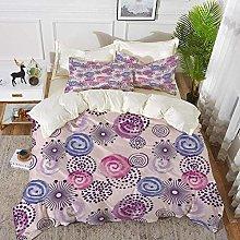 ropa de cama - Juego de funda nórdica, púrpura,