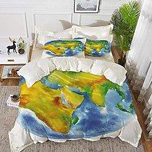 ropa de cama - Juego de funda nórdica, Tierra,
