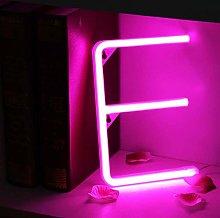 Rosa Letreros de neón Luz nocturna Luces LED de