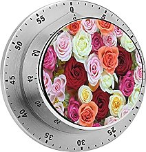 Rosas Fucsia Magenta Flor Mecánica Temporizador