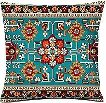 Rosepoem Funda de cojín con estampado de alfombra