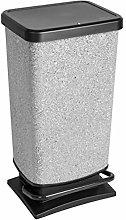 Rotho Paso - Cubo de Basura con Pedal (40 L),