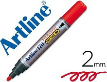 Rotulador artline marcador permanente 170 rojo