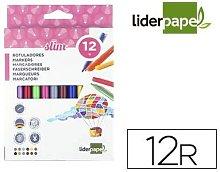 Rotulador caja 12 colores - Liderpapel