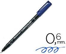 Rotulador Lumocolor Permanente 0.6 mm Azul -