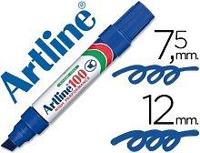 Rotulador marcador permanente 100 azul -punta