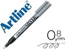 Rotulador marcador permanente tinta metalica