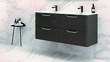 ROYO LIFE 120 Mueble+Lavabo Antracita