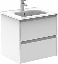 ROYO SANSA Mueble+Lavabo 2 Cajones Blanco -