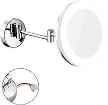 RSWLY Espejo de maquillaje con LED montado en la