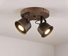 Rubinjo foco de techo, 2 luces redondo - Lindby