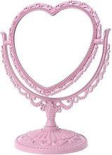 ruiruiNIE 2Sides Espejo de Maquillaje en Forma de