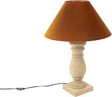 rústico Lámpara de mesa rústica pantalla