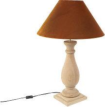 rústico Lámpara de mesa rústica terciopelo